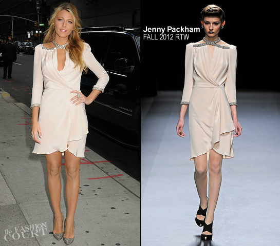 Blake Lively in Jenny Packham | 'Late Show with David Letterman'