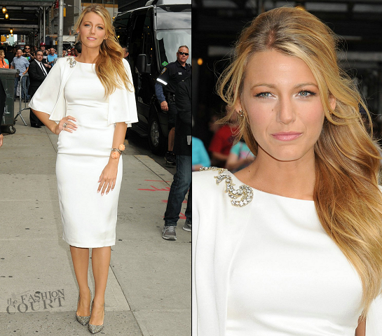 Blake Lively in Marchesa | 'Late Show with David Letterman'