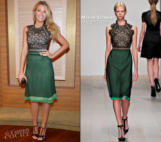 Blake Lively in Marios Schwab | Backstage for 'Charlie Rose' Interview