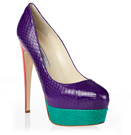 Brian Atwood HAMPER Multicolored Platform Pumps