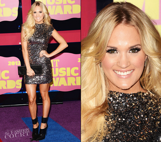 Carrie Underwood in Randi Rahm | 2012 CMT Music Awards