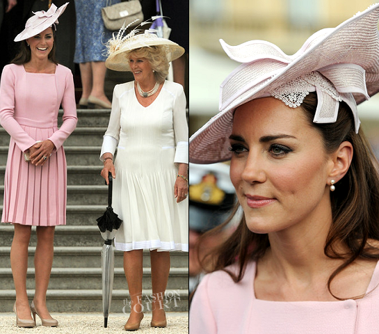 Kate Middleton in Emilia Wiskstead for the Queen's Garden Party