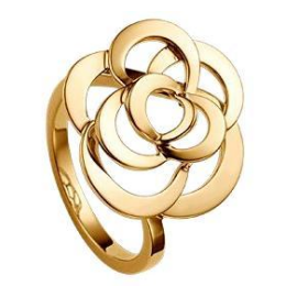 CHANEL Camelia 18k Yellow Gold Ring