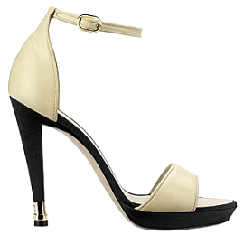 CHANEL Leather Ankle Strap Platform Sandals - Cruise 2012