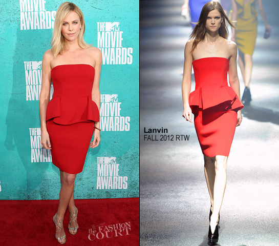 Charlize Theron in Lanvin | 2012 MTV Movie Awards