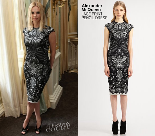 """Charlize Theron in Alexander McQueen 