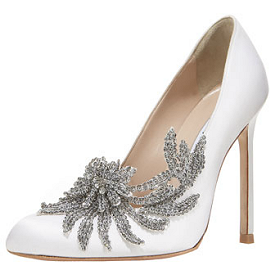 Manolo Blahnik for Carolina Herrera SWAN Crystal Pumps