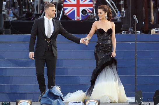 Cheryl Cole in Eva Minge Couture | The Queen's Diamond Jubilee Concert