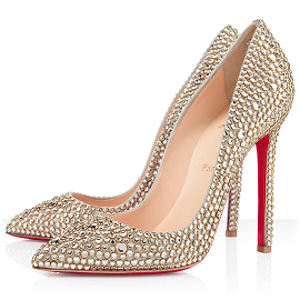Christian Louboutin Pigalle Crystal 120 Pumps