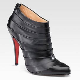 Christian Louboutin ORNIRON Pleated Ankle Booties