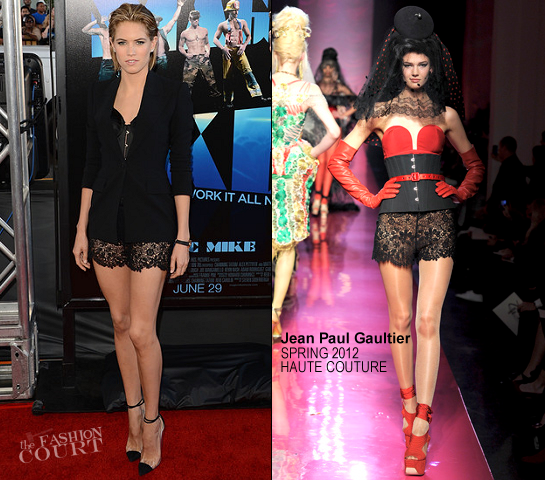 Cody Horn in Jean Paul Gaultier Couture | 'Magic Mike' 2012 LA Film Festival Premiere