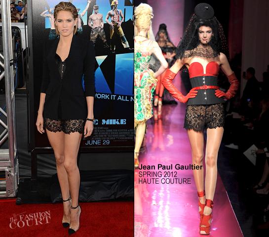 Cody Horn in Jean Paul Gaultier Couture | 'Magic Mike' 2012 LA Film Festival Premiere