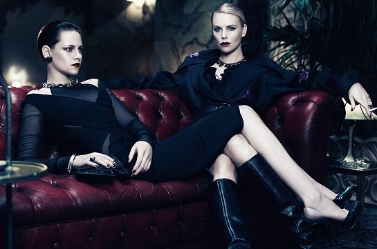 Dark Beauty: Charlize Theron & Kristen Stewart for Interview Magazine!