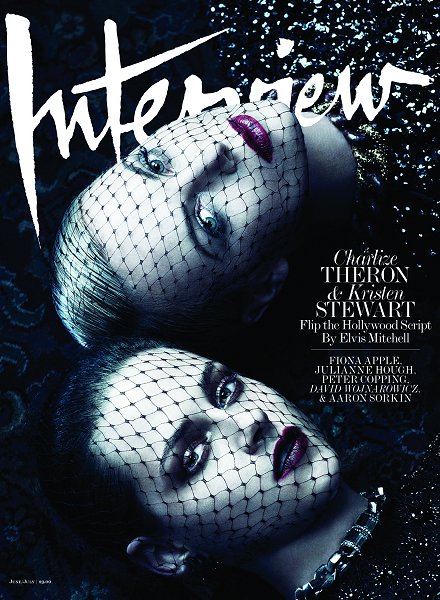Dark Beauty: Charlize Theron & Kristen Stewart for Interview Magazine!