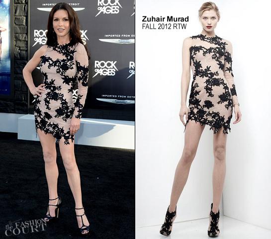 Catherine Zeta-Jones in Zuhair Murad   'Rock of Ages' LA Premiere