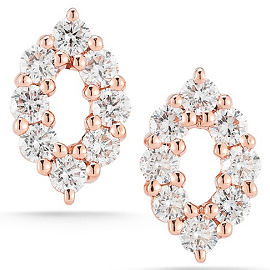 Dana Rebecca Designs Nikki Joy Studs - 14k Rose Gold and Diamonds