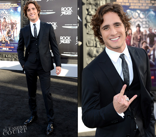 Diego Boneta in Z Zegna | 'Rock of Ages' LA Premiere