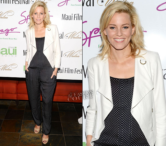 Elizabeth Banks in Jonathan Saunders | 2012 Maui Film Festival Soiree at Spago