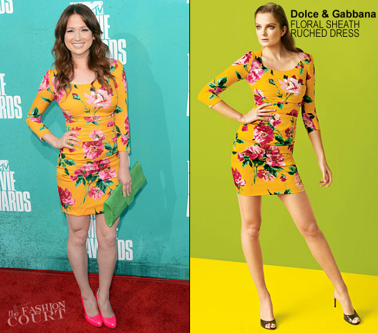 Ellie Kemper in Dolce & Gabbana | 2012 MTV Movie Awards