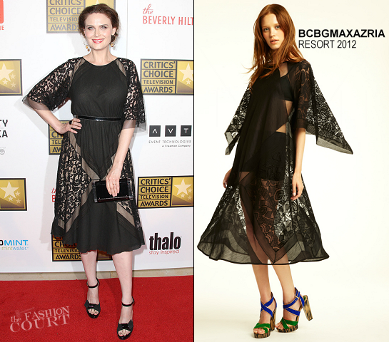 Emily Deschanel in BCBG Max Azria | 2012 Critics' Choice Television Awards
