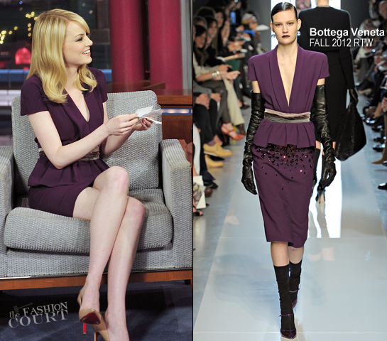 Emma Stone in Bottega Veneta | 'Late Show with David Letterman'