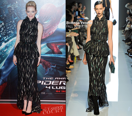 Emma Stone in Bottega Veneta | 'The Amazing Spider-Man' Rome Premiere