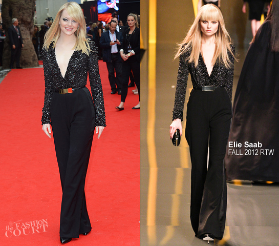 Emma Stone in Elie Saab | 'The Amazing Spider-Man' London Premiere