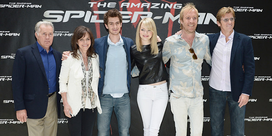 Emma Stone in J Brand and Rag & Bone | 'The Amazing Spider-Man' NYC Photocall