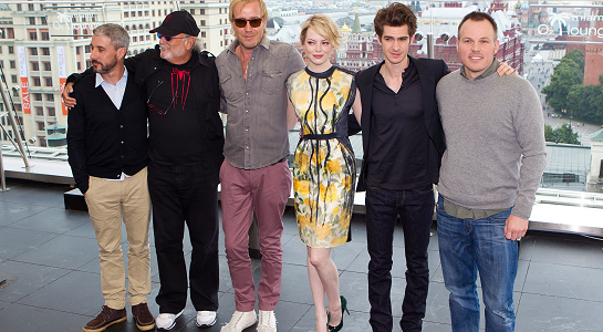 Emma Stone in Lanvin | ' The Amazing Spider-Man' Moscow Photocall