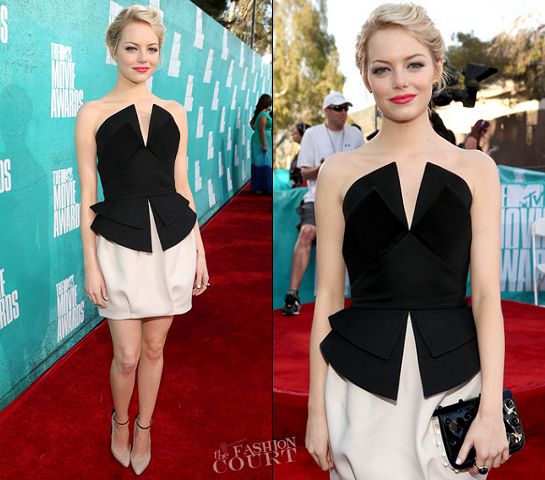 Emma Stone in Martin Grant | 2012 MTV Movie Awards
