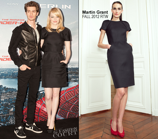 Emma Stone in Martin Grant | 'The Amazing Spider-Man' Berlin Photocall