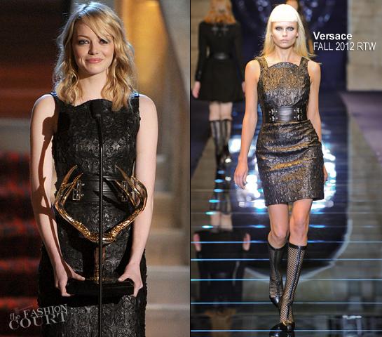 Emma Stone in Versace | Spike TV's Guys Choice Awards 2012