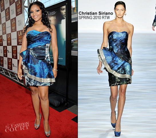 Erica Hubbard in Christian Siriano | 'Middle of Nowhere' 2012 LA Film Festival Premiere
