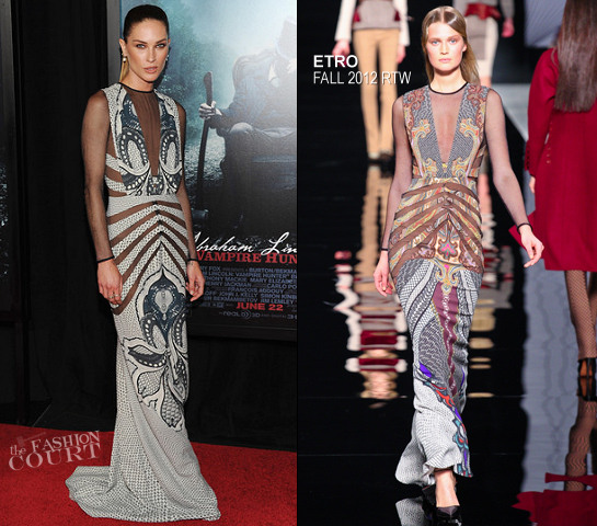 Erin Wasson in Etro | 'Abraham Lincoln: Vampire Hunter' NY Premiere