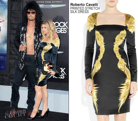 Fergie in Roberto Cavalli | 'Rock of Ages' LA Premiere