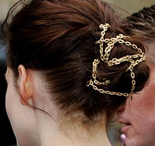 Get The SWATH Look: Kristen Stewart's Chain-Twisted Bun!