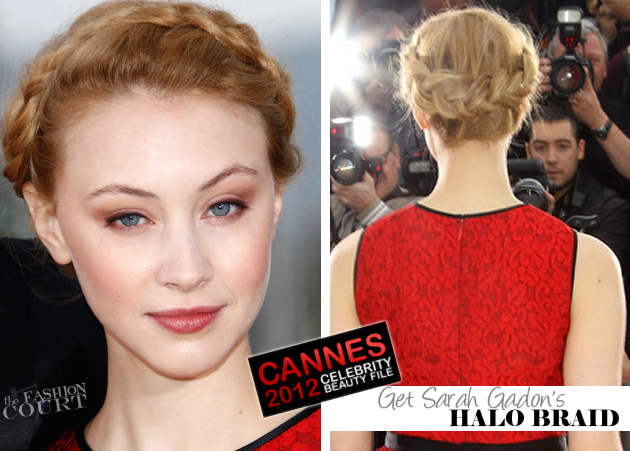 From Braids To Waves: Get Sarah Gadon's Cannes Look!