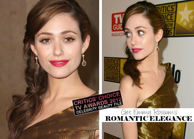 Get The Look: 2012 Critics' Choice Awards - Emmy Rossum's Romantic Elegance