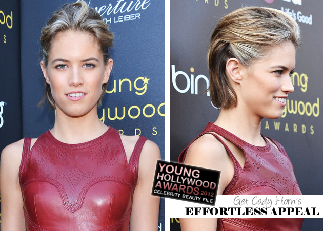 Get The Look: 2012 Young Hollywood Awards - Get Cody Horn's Effortless Appeal!