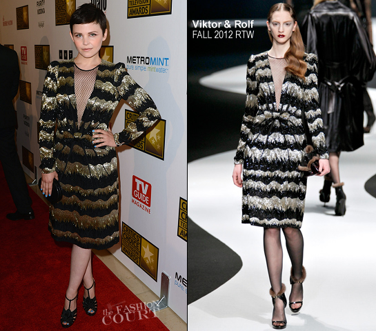 Ginnifer Goodwin in Viktor & Rolf | 2012 Critics' Choice Television Awards