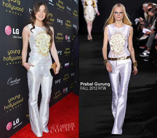 Hailee Steinfeld in Prabal Gurung | Young Hollywood Awards 2012