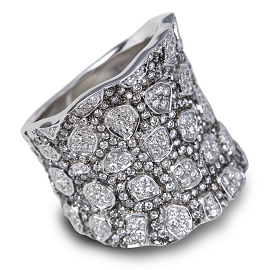 Hellmuth Silver Ring with 2.30ct. Diamonds