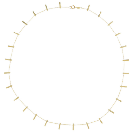 Jennifer Meyer Cross Bar Chain Necklace