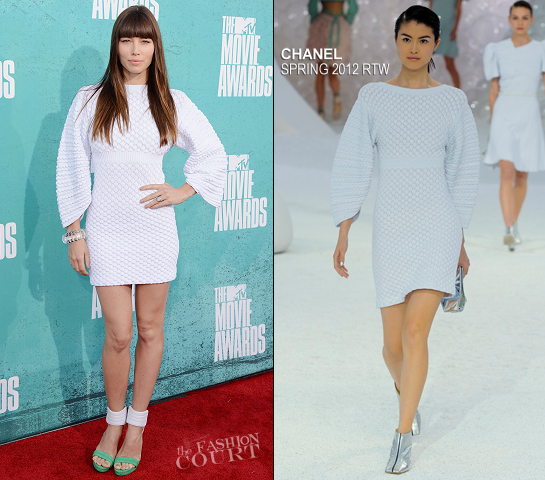 Jessica Biel in Chanel | 2012 MTV Movie Awards