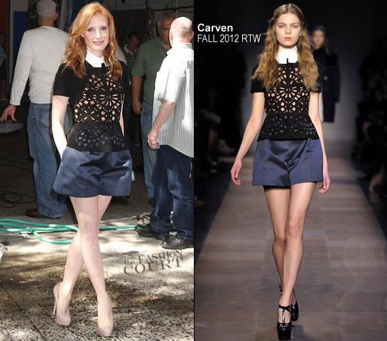 Jessica Chastain in Carven | 'LIVE! with Kelly'