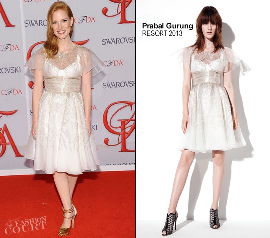 Jessica Chastain in Prabal Gurung | 2012 CFDA Fashion Awards
