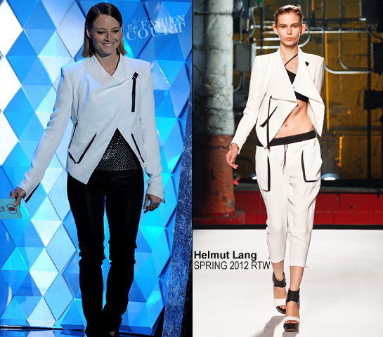Jodie Foster in Helmut Lang | 2012 MTV Movie Awards