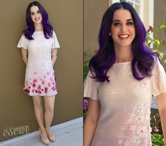 Katy Perry in ERIN by Erin Fetherston | 'Katy Perry: Part Of Me' Beverly Hills Photocall