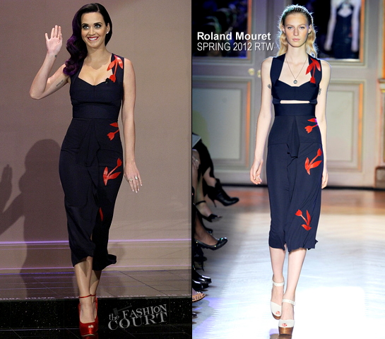 Katy Perry in Roland Mouret | 'The Tonight Show with Jay Leno'