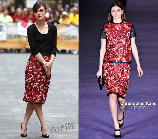 Keira Knightley in Christopher Kane   NBC's The 'Today' Show